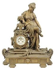 Monumental Louis XV Style Figural Clock