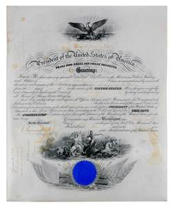 William Howard Taft Signed Document