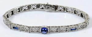 Vintage 14kt. Line Bracelet