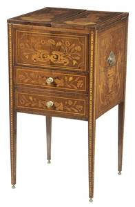 Dutch Neoclassical MarquetryInlaid Wash Stand