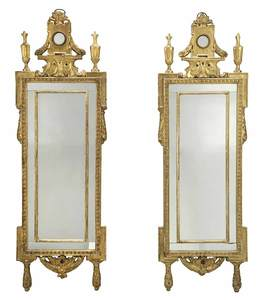 Italian Neoclassical Carved Mirrors