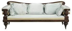 Fine Boston Classical Carved Mahogany Sofa