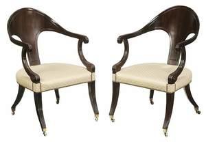 Pair Classical UpholsteredGondola Chairs