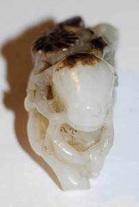 White Jade Ox with Stand
