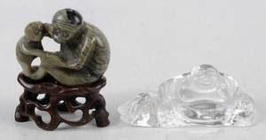 Two Miniature Asian Figurines