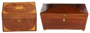 Two British Parquetry Boxes