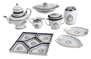12 Pieces Chinese Export Armorial Porcelain