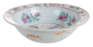 Chinese Export Famille Rose Basin