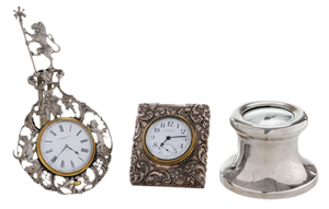 Three Silver Clocks