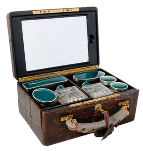 French Silver Travel Dresser Case