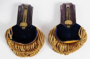 Pair of Civil War Era Epaulets in Case