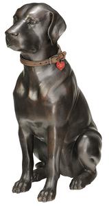 Large Patinated Bronze of Labrador Retriever