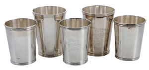 Twelve Sterling Julep Cups