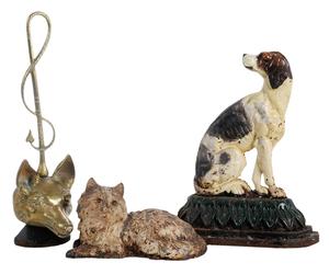Three Animal Figure Doorstops