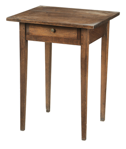 Southern Federal Style Walnut One Drawer Table