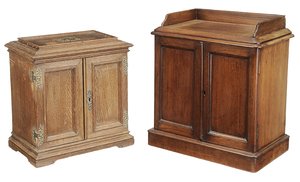 Two Wooden Jewelry Cabinets