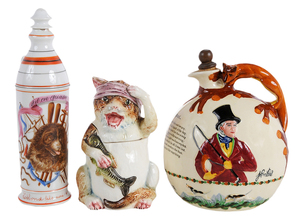 Three Ceramic Table Items