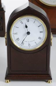 Four British Wooden Mantle Clocks