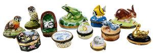 12 Porcelain Trinket Boxes