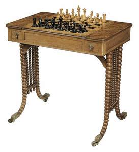 Burr Elm Inlaid Games Table