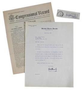 Signed Robert F. Kennedy Vietnam Letter