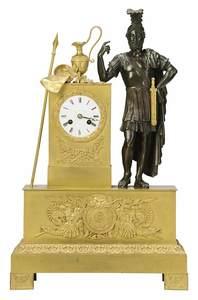 Fine Empire Gilt Bronze Figural Clock