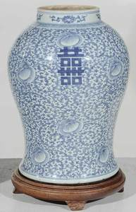 Two Chinese Blue and White Porcelain Vases