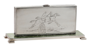 Sterling Cigarette Case Steeplechase Trophy