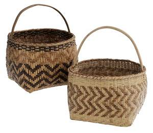 Two Cherokee River Cane Baskets