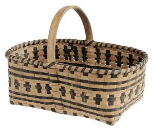 Hand-Crafted Cherokee Split Oak Market Basket