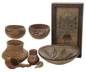 Eight Native American Items