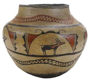 Zuni [Olla] Deer with Heart-Line Motif