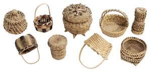 Nine Miniature Baskets
