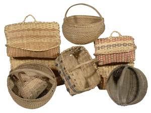 Seven Assorted Hand-Woven Baskets