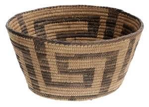 Vintage Northern California Hand-Woven Native American Basket