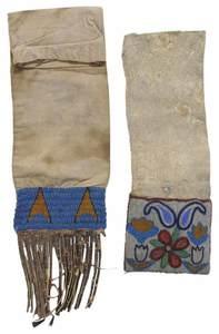 Two Native American Beadwork Pipe Bags