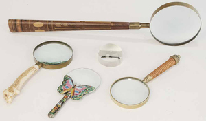 Group of Five Magnifying Glasses