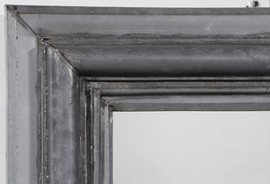 Grey Tin Framed Mirror