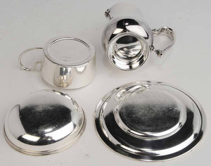 32 Silver-Plate Table Items