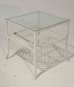 Suite of Painted Aluminum Garden Furniture