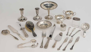 Twenty-Three Sterling Table Items