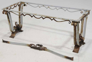 Wrought Iron Coffee Table Marble Top