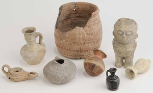 Eight Ethnographic Pottery Artifacts