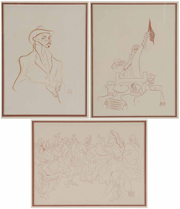 Three Albert Hirschfeld Prints