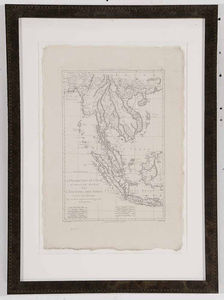 Engraved Map of Southeast Asia and Indian Ocean