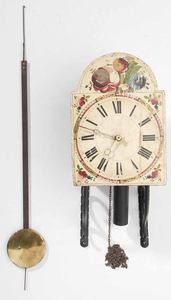 Paint-Decorated Hanging Bracket Clock