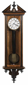 Walnut and Part Ebonized Vienna Regulator Clock