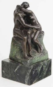 Bronze Statuette of [The Kiss] after Auguste Rodin