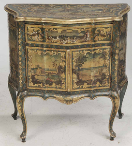 Louis XV Style Cabinet Glass Top