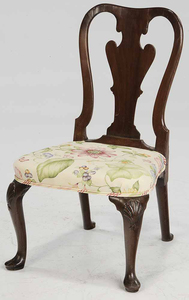 Queen Anne Mahogany Side Chair